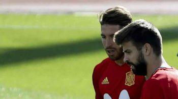 Situatie EXPLOZIVA la nationala Spaniei! Pique si Ramos ameninta ca se vor RETRAGE din cauza unei femei!