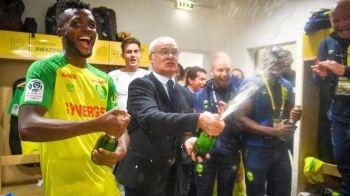 Ranieri a intrat in vestiar cu sticlele de sampanie si a inceput sa-i stropeasca pe Tatarusanu & Co! Nantes a urcat pe podium in Ligue 1