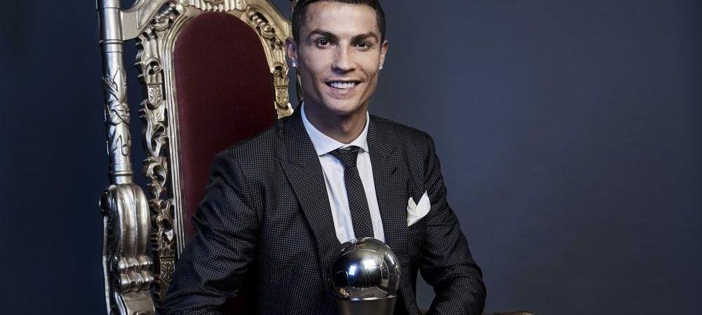 """""""Este un sentiment frumos sa castig din nou acest premiu"""" Reactia lui Cristiano Ronaldo, dupa ce a fost ales THE Best din nou"""