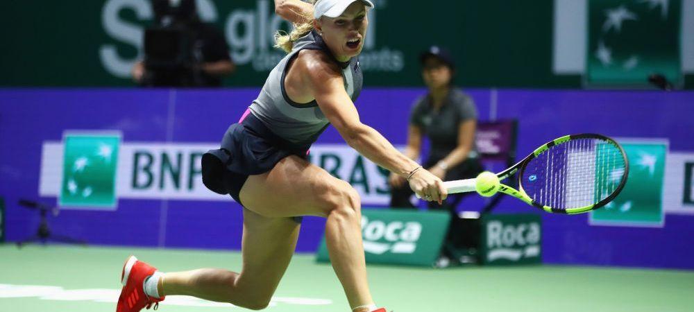 "Wozniacki, victorie ZDROBITOARE cu Simona Halep: ""Chiar ma intrebam ce se intampla, mi-a iesit totul"""