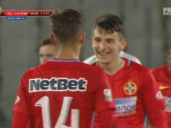 FANTASTIC! Ianis Stoica debuteaza cu gol la Steaua, la doar 14 ani: Sanatatea Cluj 1-6 FCSB! TOATE GOLURILE AICI