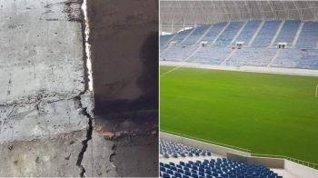 PROBLEME MARI la noul stadion al Craiovei! Arena de 52 de milioane de euro are CRAPATURI in structura de rezistenta! FOTO