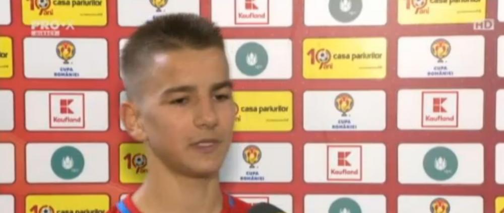 """Povestea pustiului de 16 ani care a impresionat la debutul pentru Steaua: """"Cei de la Craiova ne-au tratat mizerabil"""""""