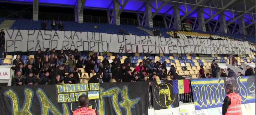 Fotbalul nu a uitat de Colectiv. Mesajul afisat de galeria Petrolului la 2 ani de la tragedie. FOTO