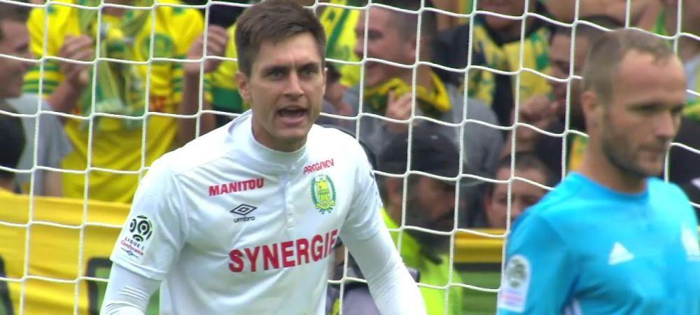 Prima GAFA a lui Tatarusanu in Franta! A scapat mingea printre picioare si a luat gol, seria fara infrangere a lui Nantes a sfarsit! VIDEO