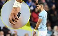 Internetul a luat-o razna: ce avea Aguero in mana cand a fost schimbat? Englezii au aflat imediat: obiectul nu avea ce cauta la un jucator | FOTO