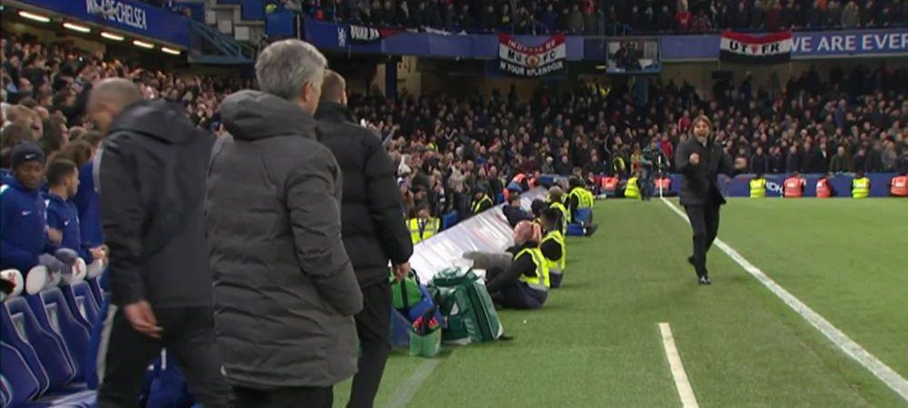 """Telenovela """"Conte vs Special One"""" continua. Gestul facut de italian l-a enervat la culme pe Mourinho. VIDEO"""