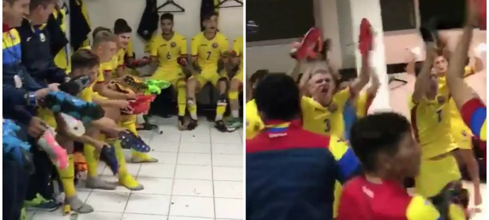 CALIFICARE! Romania Under 19 a invins Rusia si va juca in Turul de Elita! Imagini senzationale in vestiar dupa meci