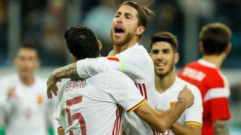 Meci nebun la Sankt Petersburg: Spania 3-3 Rusia, cu dubla lui Ramos din PENALTY si Pique urmarit de un fan pe teren