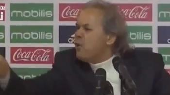 VIDEO IREAL! Selectionerul Algeriei a fost scos din minti de un jurnalist. Cum a reactionat