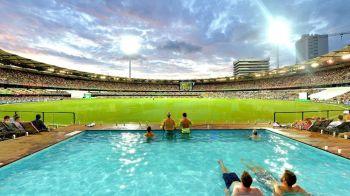 Primul stadion din lume cu PISCINA in loc de peluza! Fanii se racoresc in timp ce vad meciul! FOTO