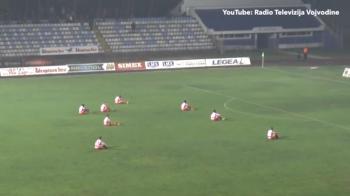 """""""Daca dai penalty, NU MAI JUCAM!"""" Moment incredibil la un meci de prima liga din Serbia. Cu ce scor s-a incheiat in cele din urma partida"""