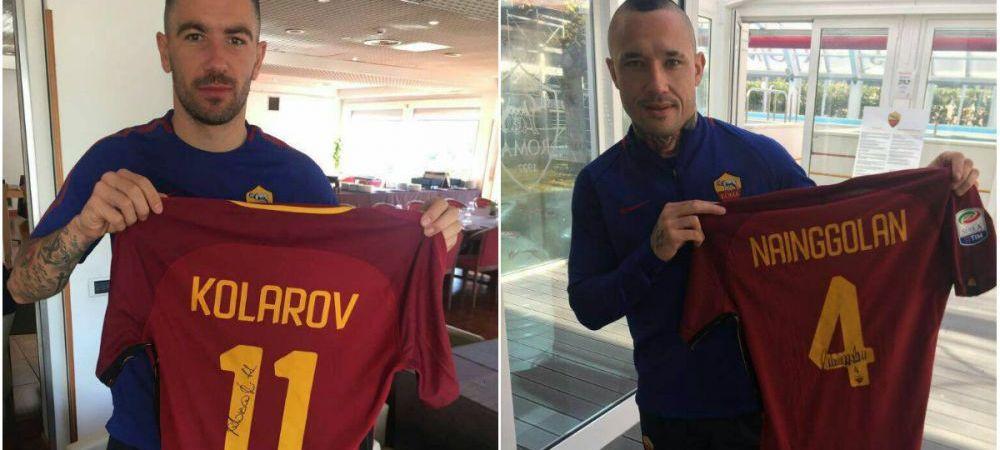Kolarov si Nainggolan si-au scos si ei tricourile la licitatie pentru a-l ajuta pe Rica! Lobont s-a implicat in campanie