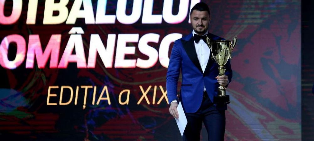 Budescu a ridicat premiul pentru FUNDASUL DREAPTA al anului in Romania si i-a dat imediat replica lui Becali! Toata sala l-a aplaudat
