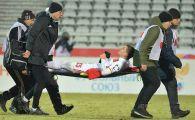 VIDEO SOCANT! Bourceanu si-a rupt piciorul in Rusia si poate fi FINAL de cariera! UPDATE Va fi trimis in Germania pentru operatie