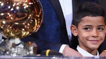 """""""Tati, esti egal cu Messi acum!"""" Reactia dementiala a lui Cristiano Jr dupa decernarea Balonului de Aur"""