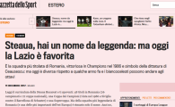 "Cum va reactiona Talpan? Gazzetta dello Sport, despre intalnirea cu Lazio: ""Steaua, nume de legenda!"""