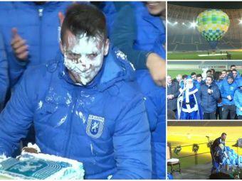 Distractie pe cinste la CSU Craiova: Mos Craciun a venit cu balonul de aer pe stadionul de milioane al oltenilor! Iata cum arata sarbatoritul zilei dupa ce a primit tortul