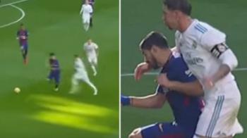 Ramos, reactie INCREDIBILA dupa ce l-a lovit cu pumnul in fata pe Suarez! Ce mesaj a avut pentru rivalii din Catalunia