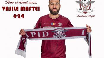 """Cadoul primit de rapidisti de Craciun! Vasile Maftei a revenit in tricoul visiniu: """"Bine ai revenit acasa, capitane"""""""