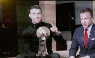 """""""Nu va faceti griji, am destul loc pentru trofee!"""" Cristiano Ronaldo a castigat premiul pentru jucatorul anului"""