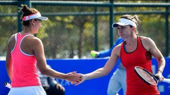 """Simona Halep, declaratie superba pentru Irina Begu dupa victoria de la dublu: """"Ea a castigat meciul!"""""""