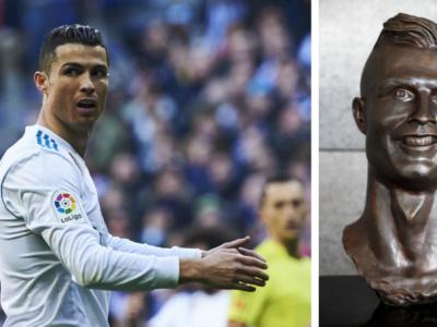 Cosmarul sculpturilor nu se incheie pentru Ronaldo :)) Genial: rusii i-au facut portretul intr-un bloc de gheata! Ce a iesit