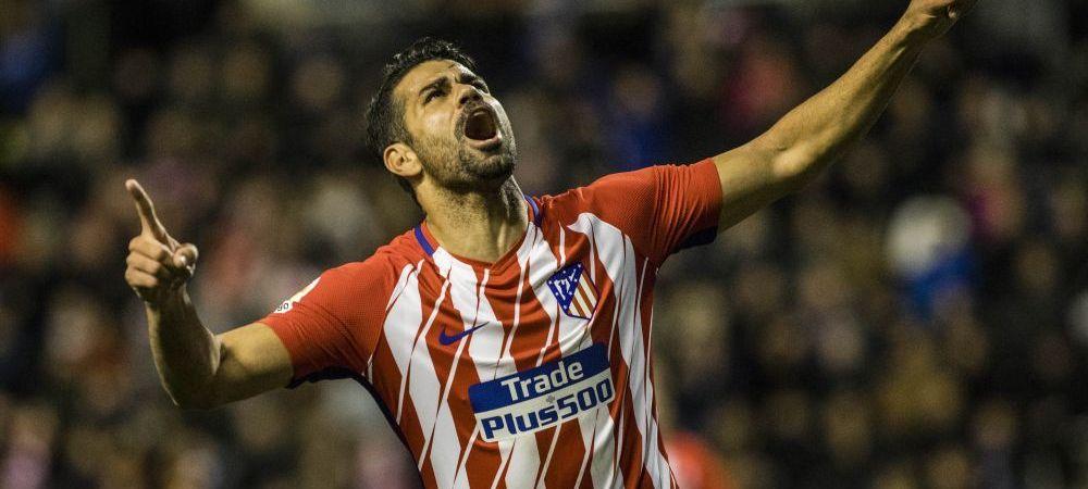 Debut HALUCINANT pentru Diego Costa pe noul stadion al lui Atletico! A marcat al 2-lea gol de la revenire si a primit imediat ROSU! Ce s-a intamplat