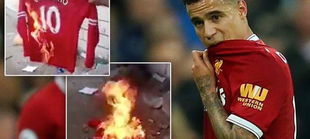 """Fanii lui Liverpool i-au ARS tricoul lui Coutinho: """"MERCENARULE""""! Gestul incredibil al clubului: le da banii inapoi fanilor!"""