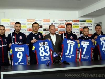 FC Botosani si-a prezentat achizitiile de Play Off! Fostii stelisti Golofca, Achim si Golubovic vor juca pentru echipa lui Enache