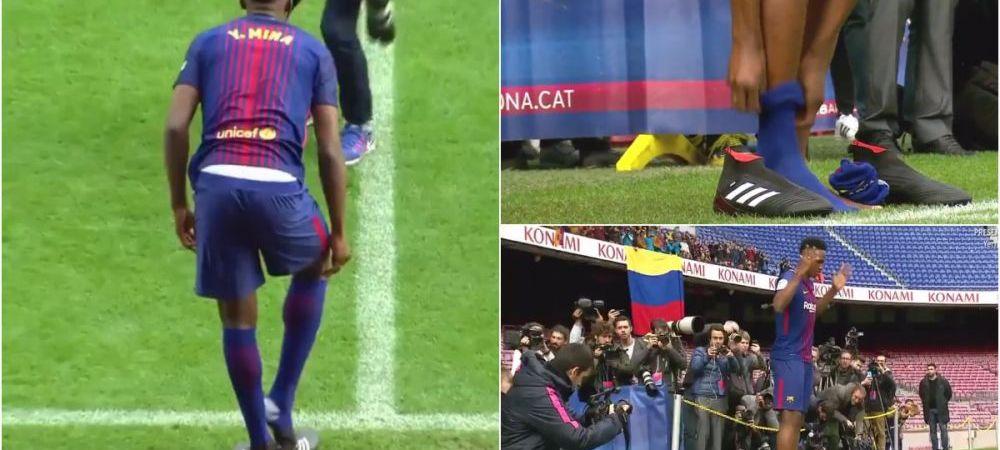 """Moment fabulos: noul transfer al Barcelonei s-a descaltat atunci cand a vazut """"covorul"""" de pe Camp Nou! Motivul gestului sau"""