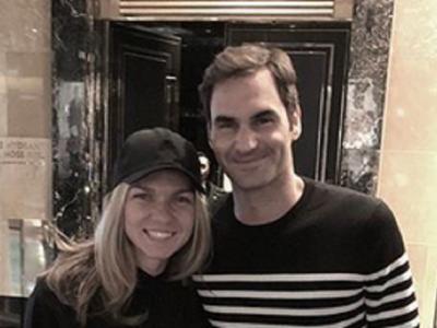 Simona Halep + Roger Federer = LOVE! :) Ce scrie pe tricoul cu care Simona face senzatie azi pe net