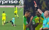 Explicatia halucinanta a arbitrului care a distrus Nantes - PSG. Cum motiveaza gestul incredibil de a-i pune piedica unui fotbalist