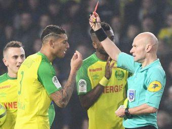 Suspendare URIASA pentru arbitrul care a lovit un jucator de la Nantes! Isi incheie cariera dupa decizia francezilor