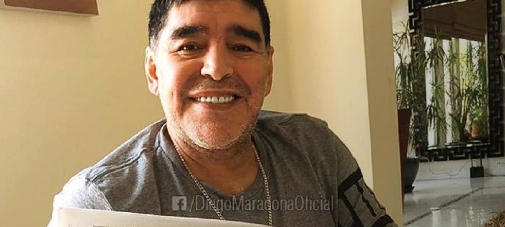 Cum a ajuns Reghe pe pagina de Facebook a lui Maradona :)) Ce a postat legenda Argentinei: FOTO