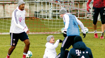 BATAIE la antrenamentul lui Bayern! James Rodriguez! TAVALIT de un coechipier! FOTO