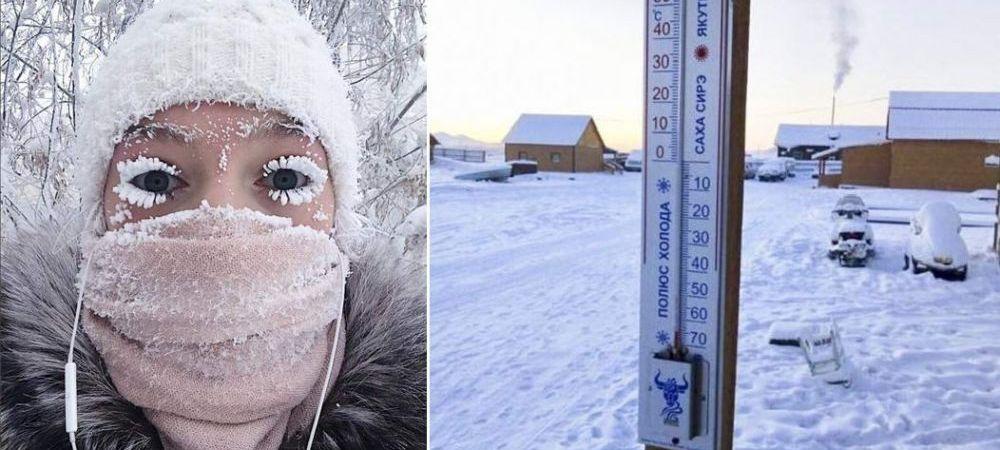 Cum arata cel mai FRIGUROS loc de pe pamant, cu temperaturi de -70 de grade! Autoritatile au INTERZIS circulatia masinilor! FOTO