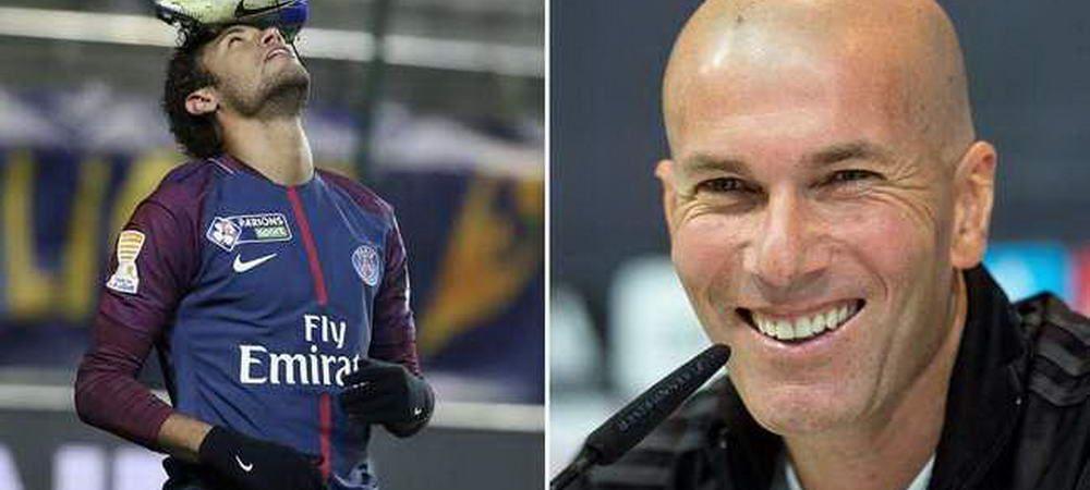 """Zidane a facut anuntul asteptat de TOTI fanii Realului! Ce spune despre transferul lui Neymar: """"De obicei nu fac asta!"""""""