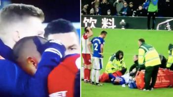 ATENTIE, IMAGINI SOCANTE! Accidentare horror in Premier League: dubla fractura pentru un jucator de la Everton! Adversarul a inceput sa planga pe teren