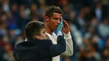 Cristiano Ronaldo, UMPLUT DE SANGE dupa ce a marcat cu Deportivo! Este incredibil ce a facut inainte sa iasa de pe teren! Motivul pentru care a cerut un telefon