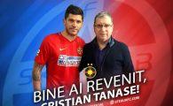 Cristi Tanase, prezentat OFICIAL la Steaua! Jucatorul s-a pozat cu Argaseala si a plecat in Spania! FOTO
