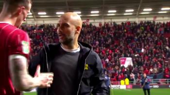 """Moment GENIAL pentru Guardiola la ultimul meci: """"Facem schimb de tricouri?"""" Ce raspuns a dat antrenorul lui Man City"""