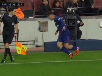 Coutinho era sa-si rupa gatul la primul meci ca titular la Barca! Ce a patit la o faza la care a trimis cu calcaiul! VIDEO