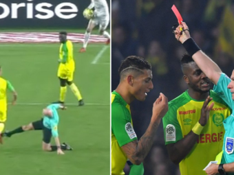 Arbitrul care i-a pus piedica unui jucator de la Nantes in meciul cu PSG si-a aflat pedeapsa! Decizia luata de Liga Franceza