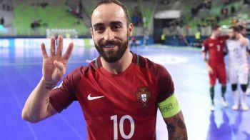 FABULOSUL Ricardinho, meci magic in sferturile EURO! A marcat din propriul careu, Portugalia a batut cu 8-1