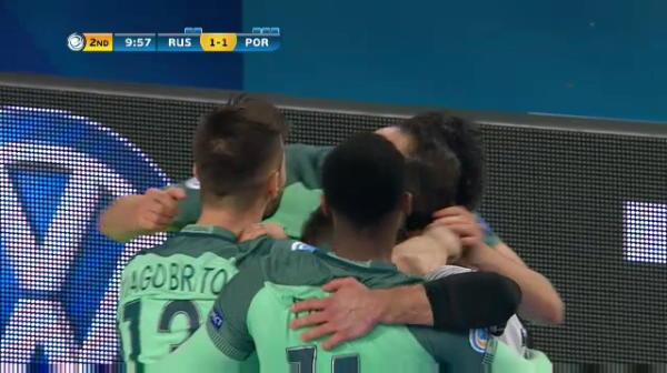 Rusia 1-1 Portugalia - egaleaza Coelho