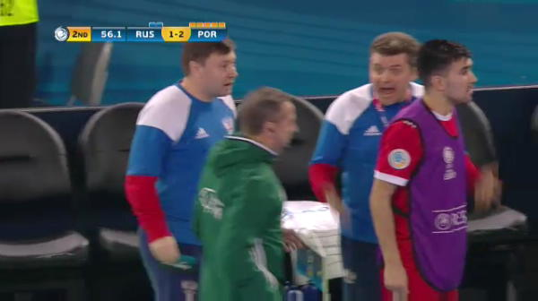Rusia 1-3 Portugalia - gol Bruno Coelho
