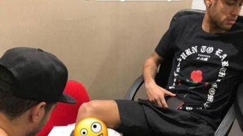 INKredibil ;) Neymar s-a dus la salon inaintea bataliei cu Real Madrid si si-a facut un tatuaj special! Ce si-a desenat