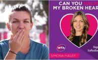 E Simona SINGLE sau mesajul a ajuns unde trebuie?! WTA i-a facut un poster surpriza si a provocat-o sa transmita un mesaj :)
