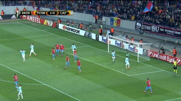 Bara Luis Felipe Steaua 1-0 Lazio